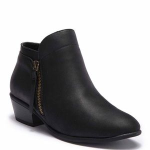 Black Faux Leather Wild Diva Lounge Booties